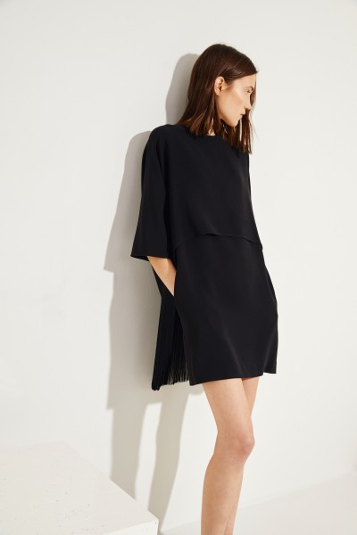 Dress with fringes Black
