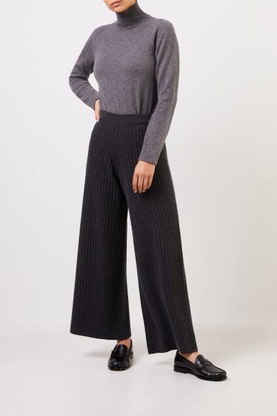 Agnona Cashmere-Sweater with turtleneck Grey