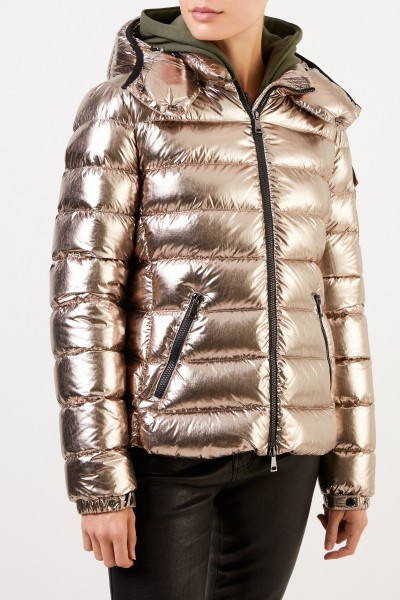 Moncler Down jacket 'Bady' with hood silver-gold