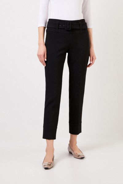 Seductive Trousers 'Faye' with zipper detail Black