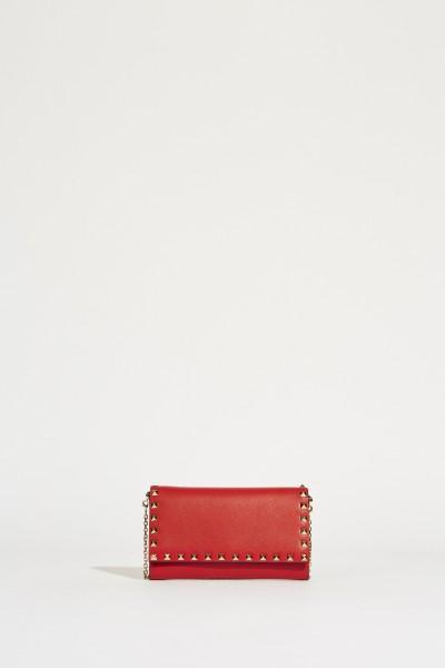 Schultertasche 'Rockstud Wallet' Rot