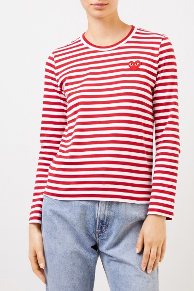 Comme des Garcons Play Striped Longsleeve Red/White