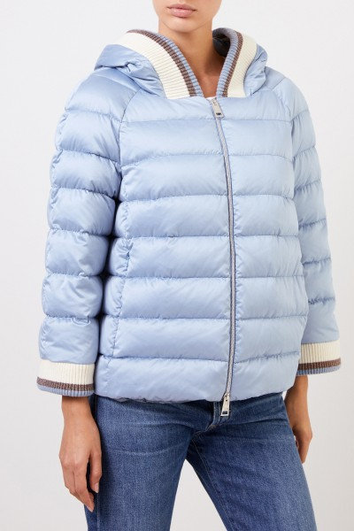 Herno Down jacket with hood Light Blue