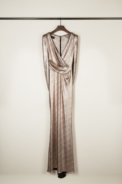 Abendkleid 'Rosin1' Nude Metallic