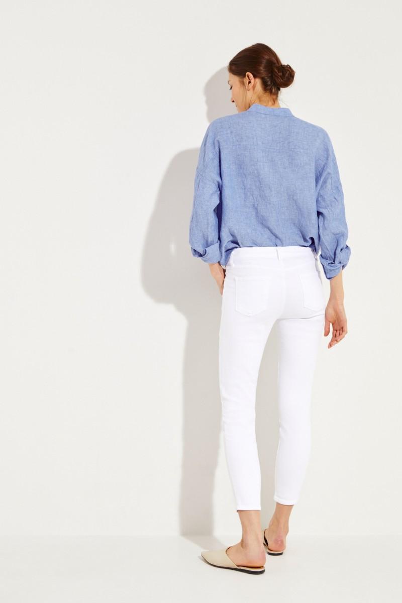 Jeans 'Midrise Capri' Weiß