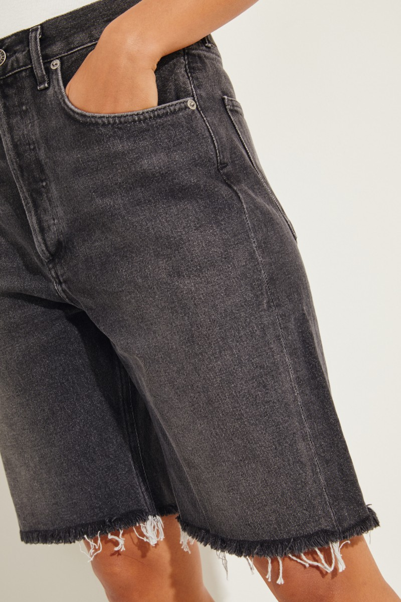 Jeans-Bermuda '90's Mid' Grau