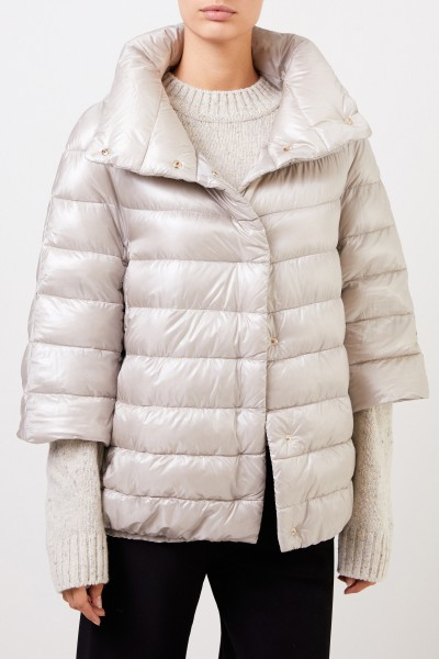 Herno Down jacket with stand-up collar Beige/Grey