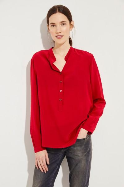 Seiden-Bluse Rot
