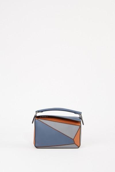 Tasche 'Puzzle Bag Small' Blau/Braun