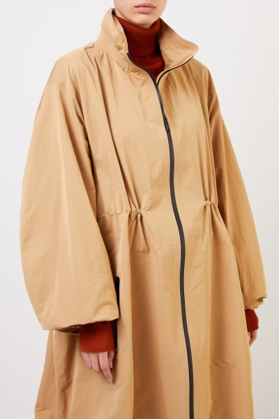 Bottega Veneta Long parka with hood Camel