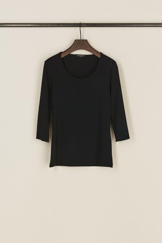 Basic-Shirt mit Rundhals-Ausschnitt Marineblau