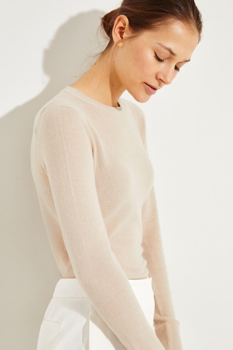 Cashmere-Pullover Beige