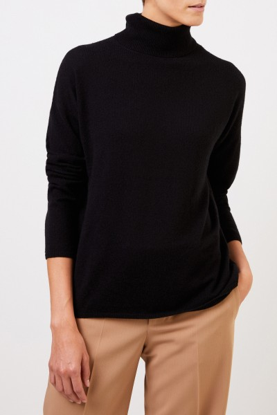 Iris von Arnim Cashmere sweater 'Cinja' with turtleneck Black