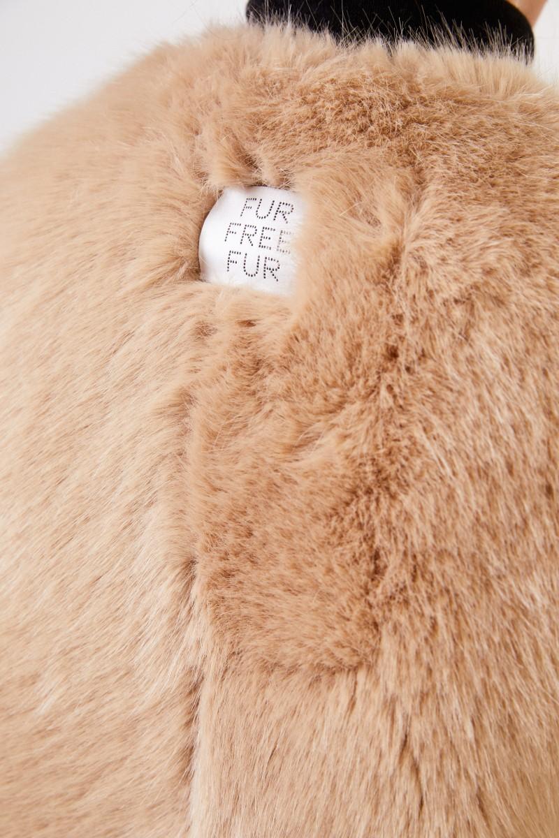 Stella McCartney Lange Faux Fur Weste Beige