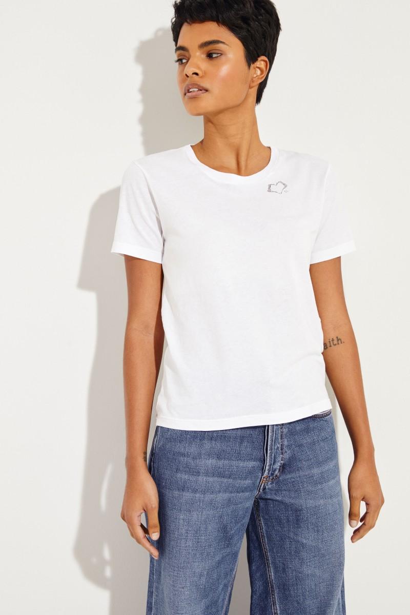 T-Shirt mit einem Logo-Detail Weiß