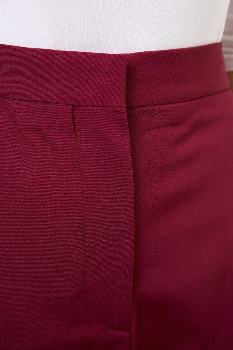 Stella McCartney Klassische Hose mit Schlitz-Detail Burgundy