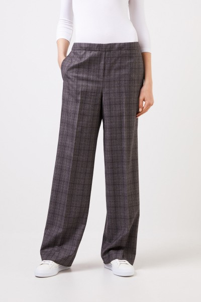 Fabiana Filippi Wool trousers with checked pattern Grey/Multi