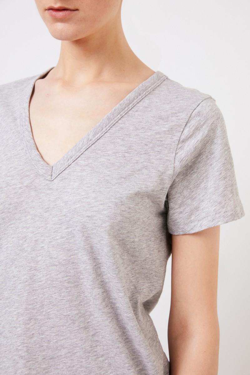 Rag&Bone Baumwoll-Shirt 'The Vee' Grau
