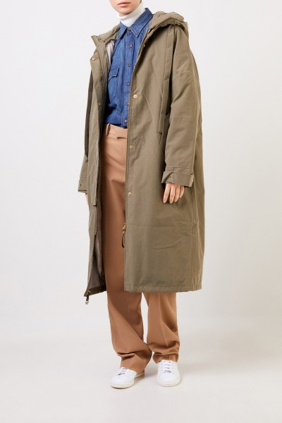 G-lab Coat 'Sakura' with hood Khaki