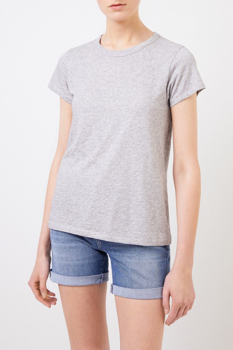 Rag&Bone Baumwoll-Shirt 'The Tee' Grau