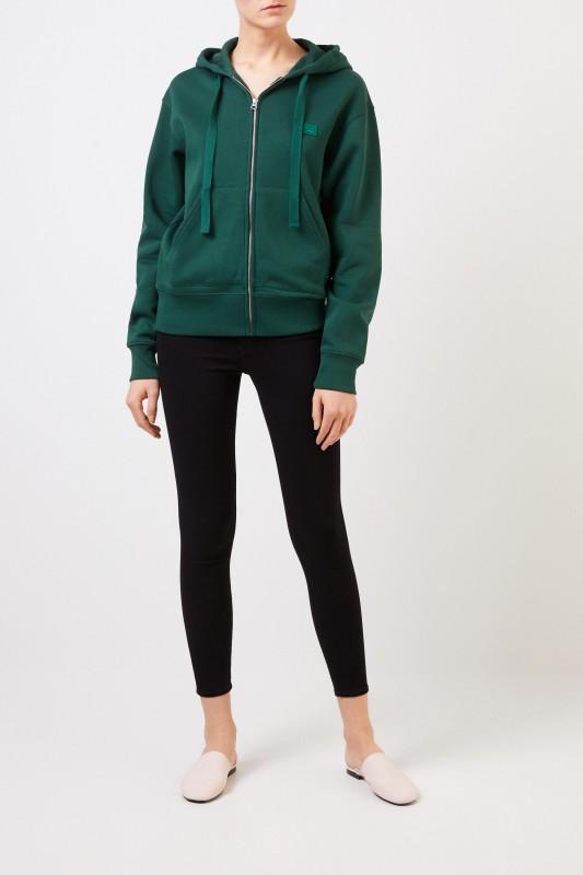 Sweatshirt-Jacke 'Ferris Zip Face' Grün