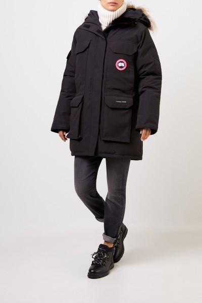 Canada Goose Down parka 'Expedition' with fur collar Black