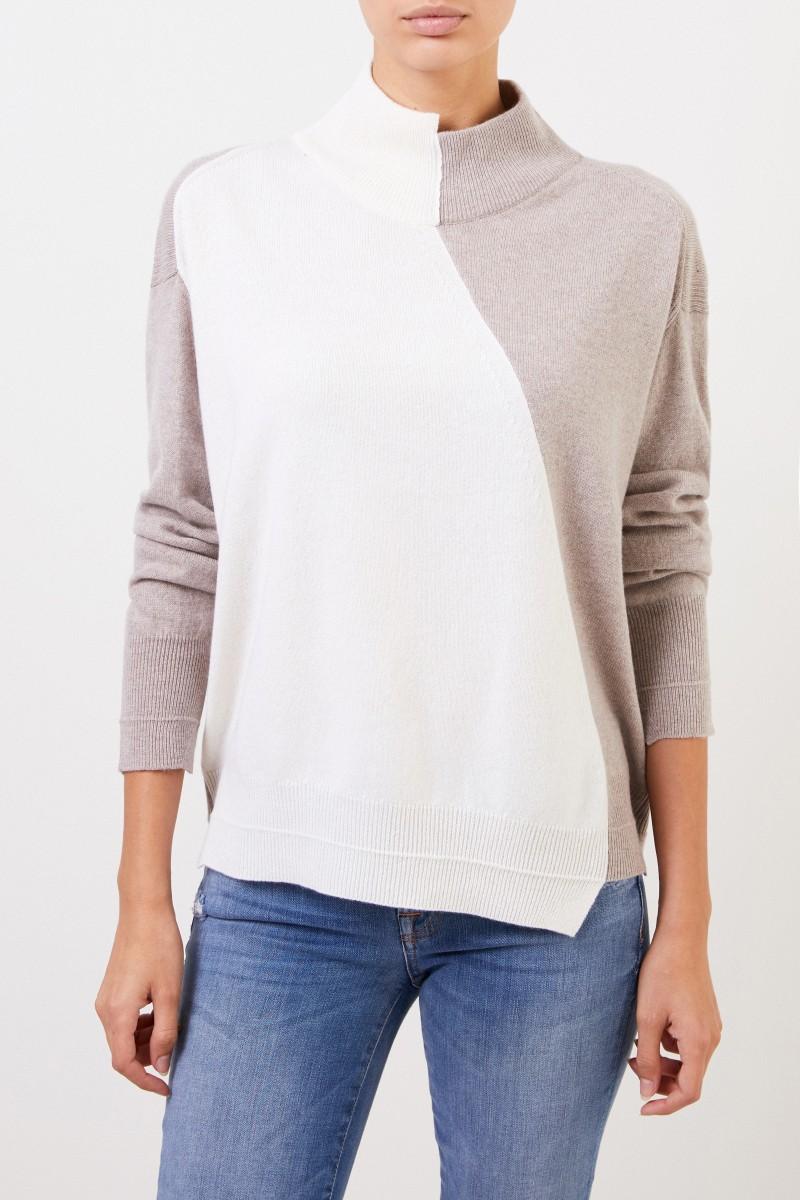 Lorena Antoniazzi Woll-Cashmere-Pullover Crème/Beige