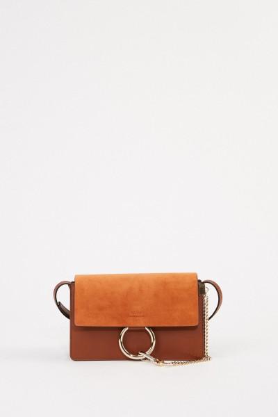 Chloé Shoulder bag 'Faye Small' Tobacco