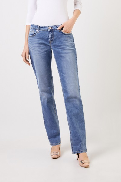 Cambio Jeans 'Loana' mit Waschung Hellblau