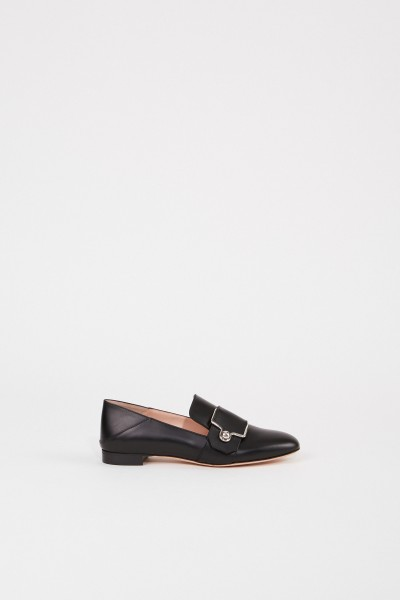 Leather loafer 'Maelle' with buckle Black