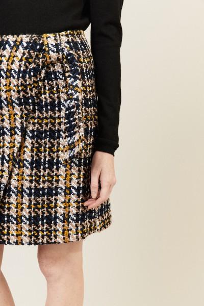 Tweed Rock mit frontalem Überschlag Multi