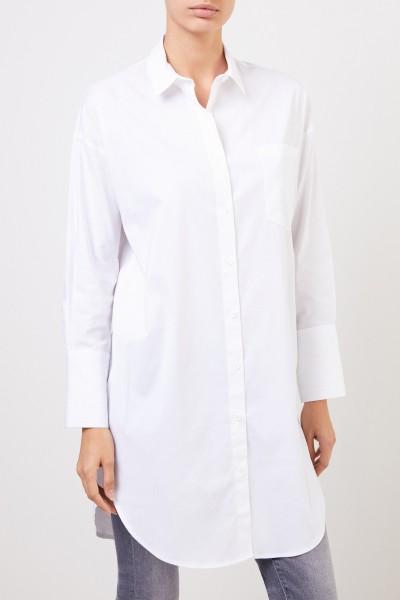 Steffen Schraut Long Cotton Blouse White