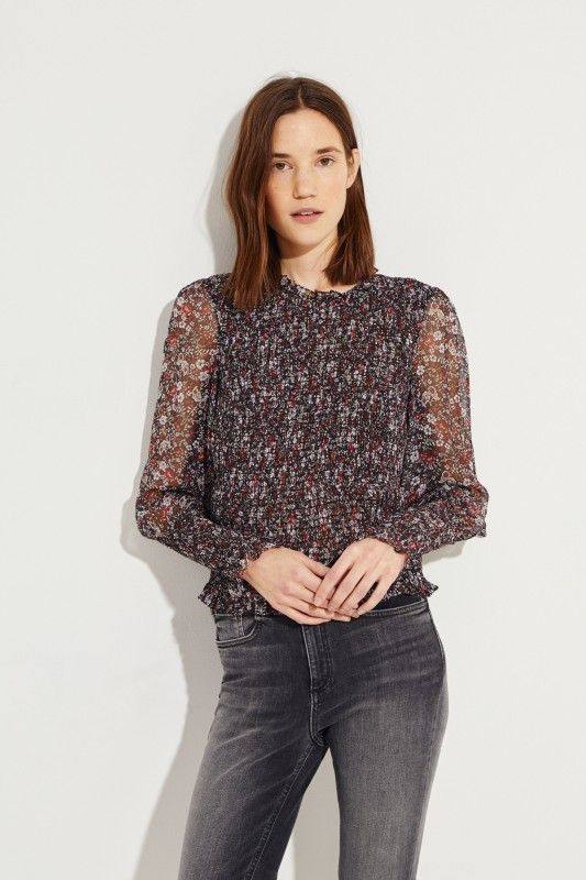 Gesmokte Bluse 'Flaire' Multi