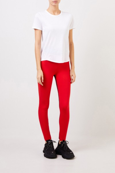 Paco Rabanne Jogging pants with logo lettering Red/Black