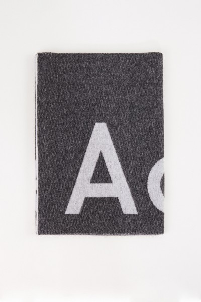 Wool scarf 'Toronty Logo' Black/Grey