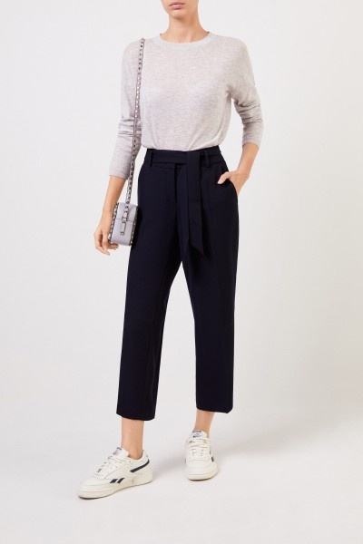 Pants 'Claire' with shortened leg navy blue