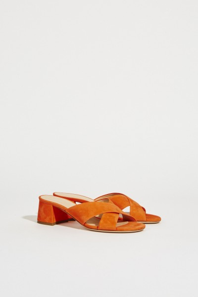 Wildleder Mules Orange
