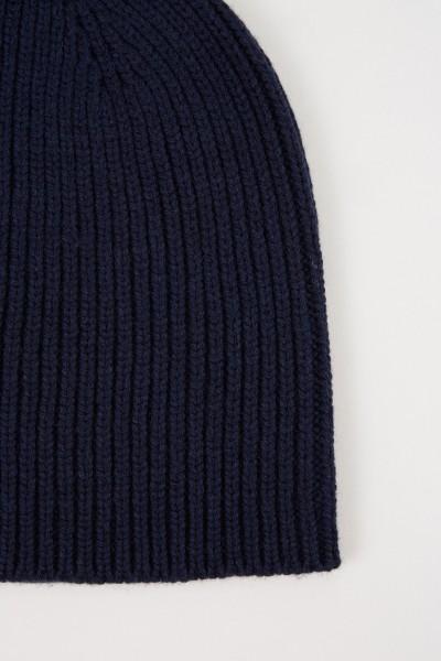 Uzwei Wool cashmere hat Navy Blue
