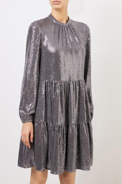 Steffen Schraut Kleid mit Paillettendetails Silber