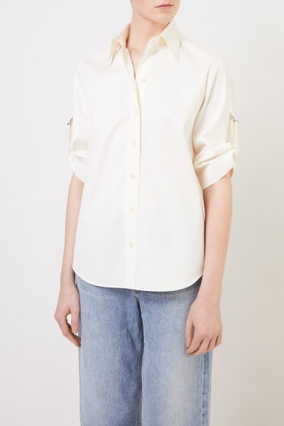 Givenchy Cotton blouse with binding details Ecru