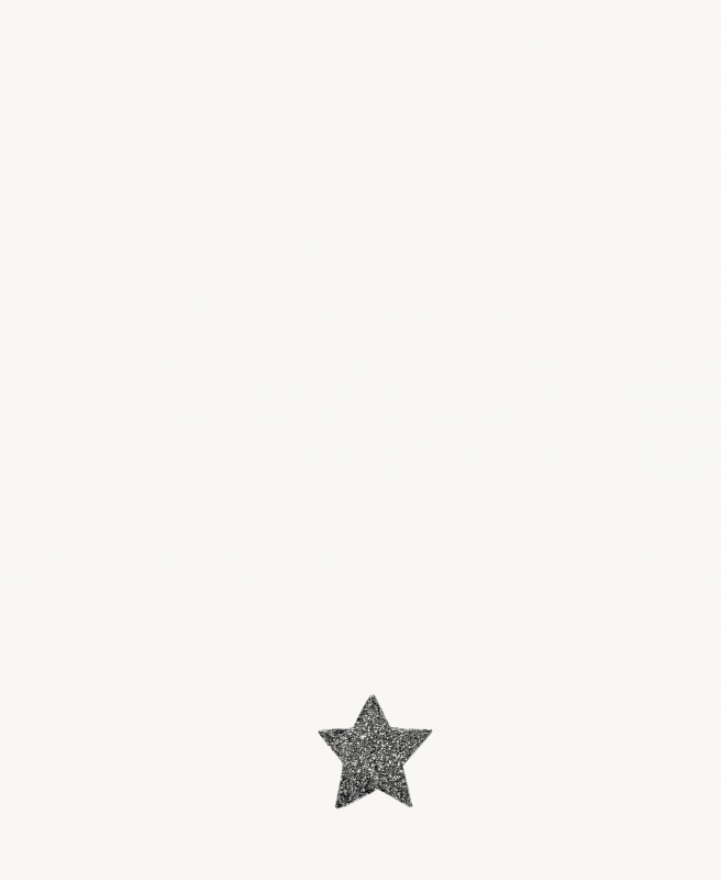 Carolina Bucci Sternenförmiger Ohrstecker 'Superstellar' 18 Karat Schwarzgold