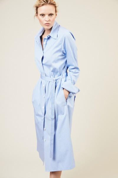 Hemdblusenkleid 'Locke' Blau/Weiß