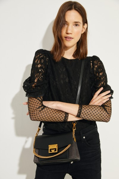 Givenchy Umhängetasche 'GV3 Small' Schwarz/Grau