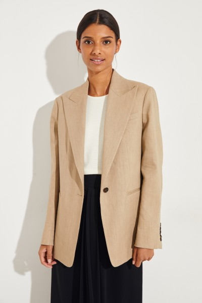 Leinen-Blazer 'New Steed' Beige