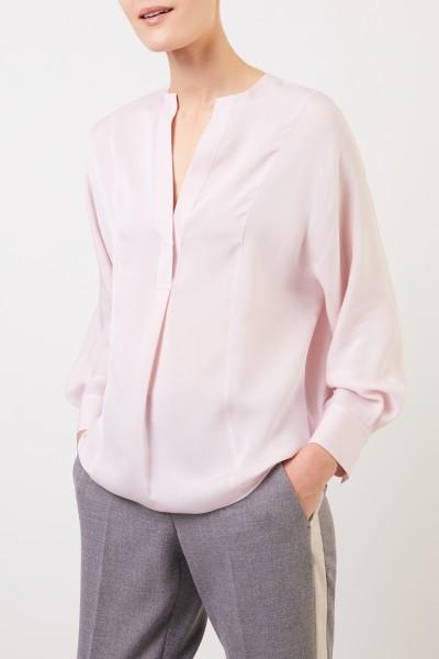 Vince Silk blouse with V-neck Light Pink