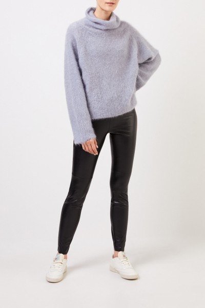 Fabiana Filippi Mohair pullover with turtleneck Pigeon Blue