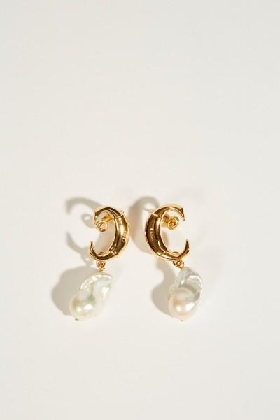 Ohrringe 'Darcy Baroque' mit Perlen Gold/Weiß