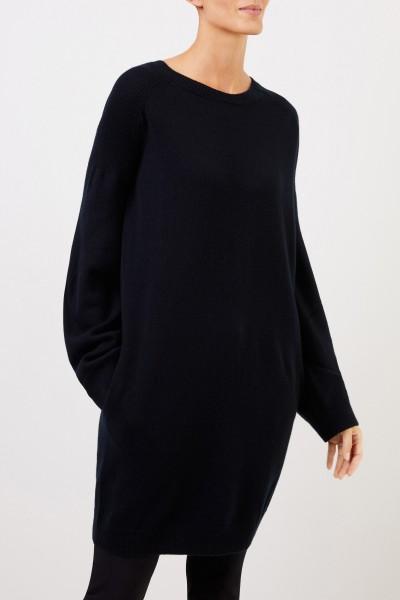 Stella McCartney Langer Woll-Pullover Schwarz