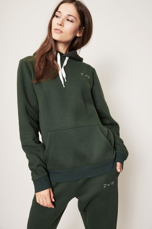 Kapuzen-Sweatshirt Bottle Green