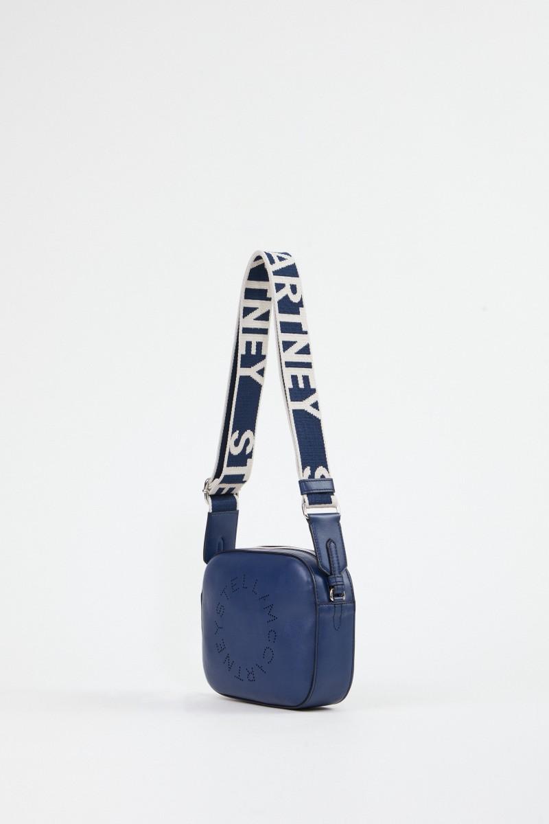 Stella McCartney Umhängetasche 'Mini Camera Bag' Marineblau